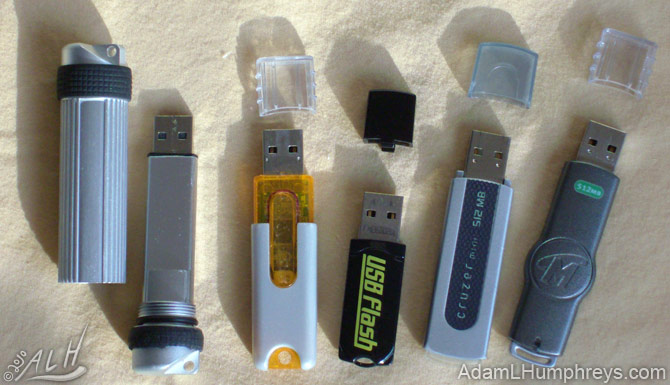 Different USB flash drives